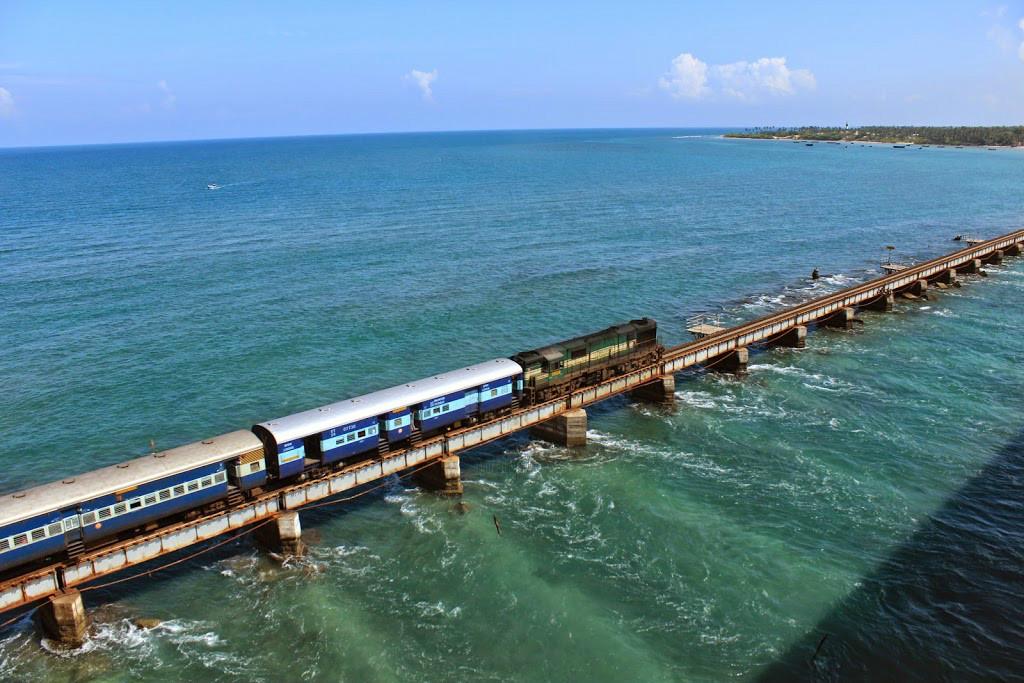 Image result for Rameswaram Express (Mandapam- Pamban- Rameswaram)
